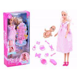 Anlily Tehotná bábika s bábätkom