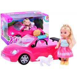 ANLILY Kiki Love mini bábika s autom a so psíkom