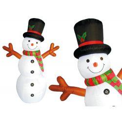 Nafukovací  svietiaci snehuliak, 180cm