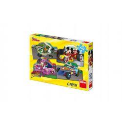 Puzzle Mickey a Minnie za pretekoch 4v1