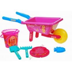 Barbie – souprava do písku + kolečko