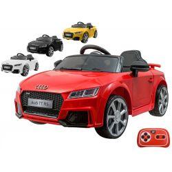 ELCARS elektrické autíčko AUDI TT RS, licence, multifunkční dálkové ovládání, EVA kola