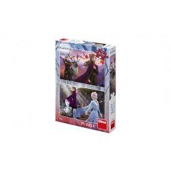Puzzle Ľadové kráľovstvo, 2x77 dielikov