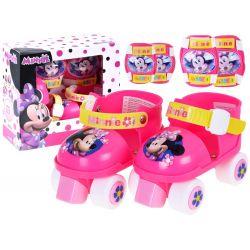 Detské kolieskové korčule s chráničmi Minnie Mouse