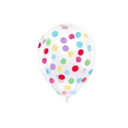 Balónik s guľatými konfetami