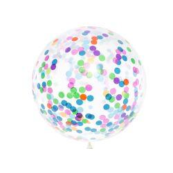 Balónik s guľatými konfetami, 1m