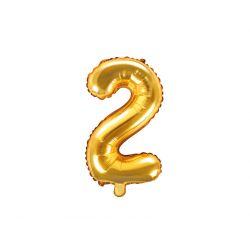 Balón fóliový- číslo 2,  zlatý