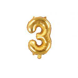 Balón fóliový- číslo 3,  zlatý