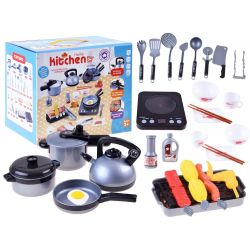 Detská kuchynská sada s elektrickým varičom