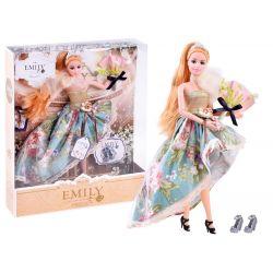 Bábika Emily v plesových šatách