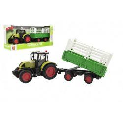 Traktor s vlečkou, 38cm, zvuk + svetlo