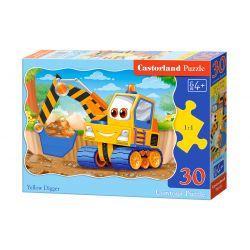 Castorland Puzzle Žltý bager, 30 dielikov