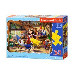 Castorland Puzzle Snehulienka a trpaslíci, 30 dielikov