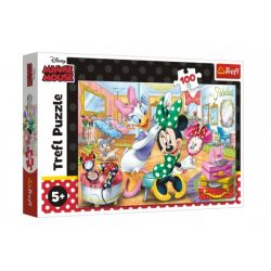 Puzzle Minnie Disney v salóne krásy 100 dielikov