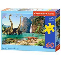 Castorland Puzzle Vo svete dinosaurov, 60 dielikov