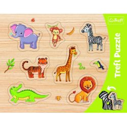 Vkladačka- Puzzle zvieratká zo ZOO