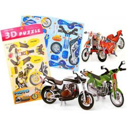 3D puzzle motorka, 4 druhy