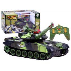 Bojový tank na dálkové ovládání 34 cm – lesní kamufláž