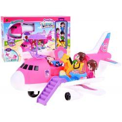 Happy places, rozkladacie lietadlo pre bábiky s vybavením + postavičky