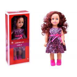 AMERICAN Girls – Krásna veľká bábika s dlhými vlasmi, 45cm v tygrovaných šatách