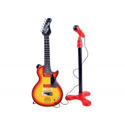 Detská rocková gitara s mikrofónom