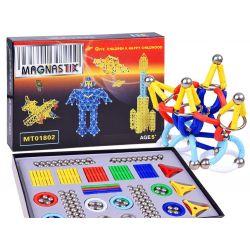 Magnastix Plus - barevné magnetické skládačky 320 ks