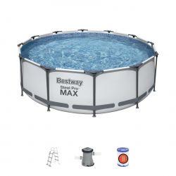 Bestway 56418 bazén s konštrukciou 366 x 100 cm , biely
