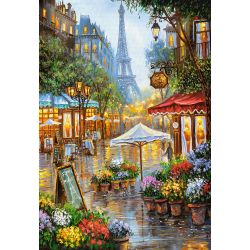 Castorland Puzzle Jarná kvetinová Paríž, 1000 ks