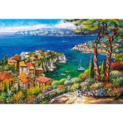 Castorland Puzzle Azurové pobrežie, 1500 dielikov
