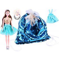 Bábika Emily s flitrovým batohom