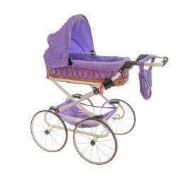 Kočík pre bábiky Monika Retro sv.fialový