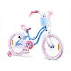 """RoyalBaby detský bicykel STAR GIRL, 18"""" modry"""
