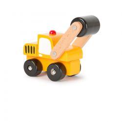 Small Foot: Detské drevené autíčko – Cestný valec 12cm, 18m+