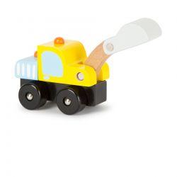 Small Foot: Detské drevené autíčko – Bager 14cm, 18m+
