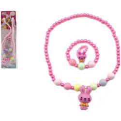 Náhrdelník, náramok a pstienok z perleť.korálkov