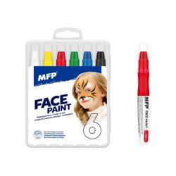 Farby na tvár v krabičke 6ks