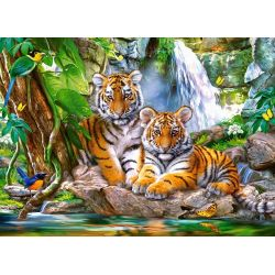 Castorland Puzzle Tigre u vodopádu, 300 dielov