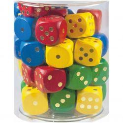 Drevené hracie kocky, 1ks, 25 mm
