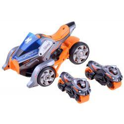 Futuristická trojkolka s vystreľovačom + motorky 2v1, Oranžova