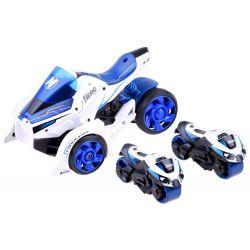 Futuristická trojkolka s vystreľovačom + motorky 2v1, Biela