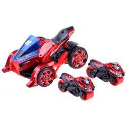 Futuristická trojkolka s vystreľovačom + motorky 2v1, Červená