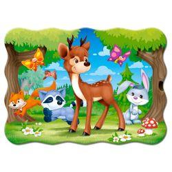 Castorland Puzzle Lesný priatelia, 30 dielikov