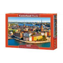 Castorland Puzzle Stockholm staré mesto Švédsko, 500 dielov