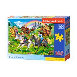 Castorland Puzzle Princezné jazda na koni, 100 dielikov