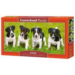 Castorland Puzzle Psíkovia v tráve, 600 dielikov