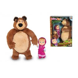 Máša a medved - bábika Máša 12cm + medved 25cm
