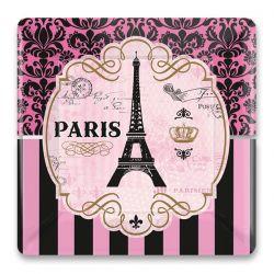 Papierové tanieriky Paris, štvorec 25,4cm, 8ks