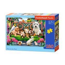Castorland Puzzle Zvieratka v parku, 180 dielikov