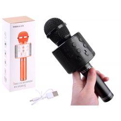 Bezdrôtový karaoke mikrofón, čierny