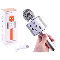 Bezdrôtový karaoke mikrofón, biela
